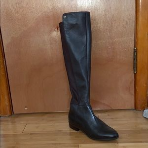 Michael Kors Thigh High Brown Leather Boots